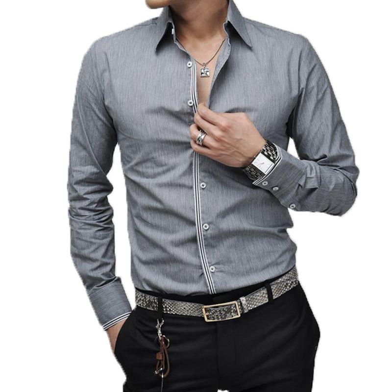 Günstige Männer Hemd Luxus Marke 2016 Männlichen