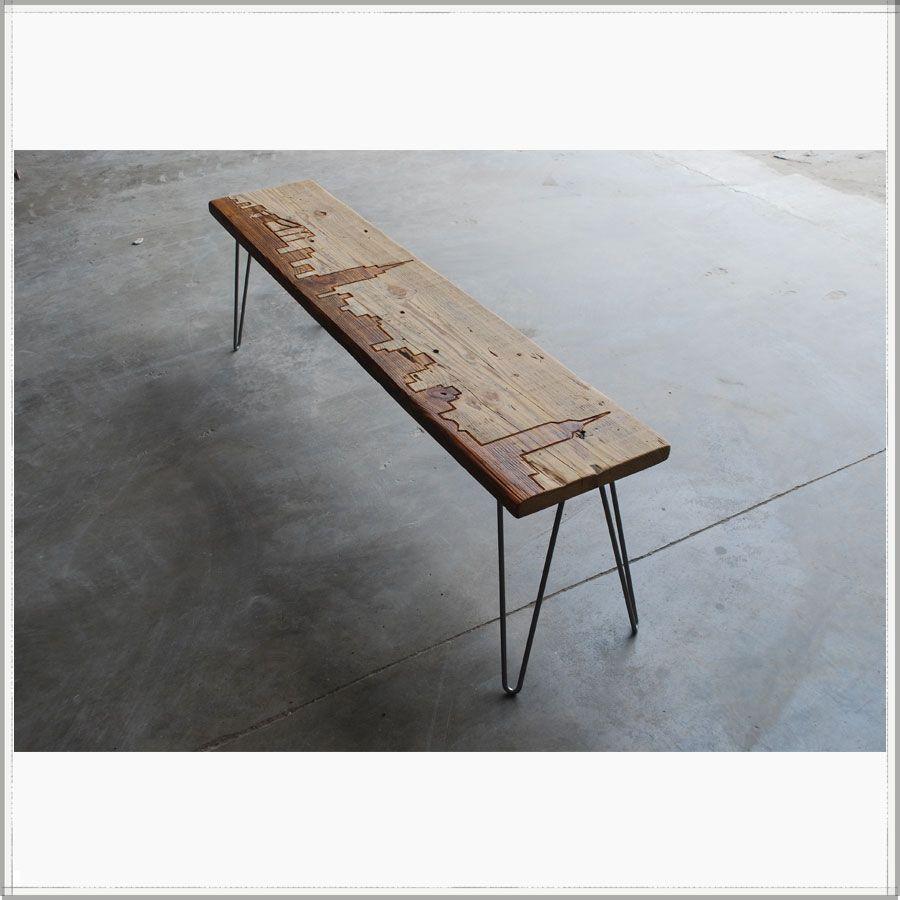 New York Reclaimed Wood Bench   Custom Furniture  Urban Design Focus