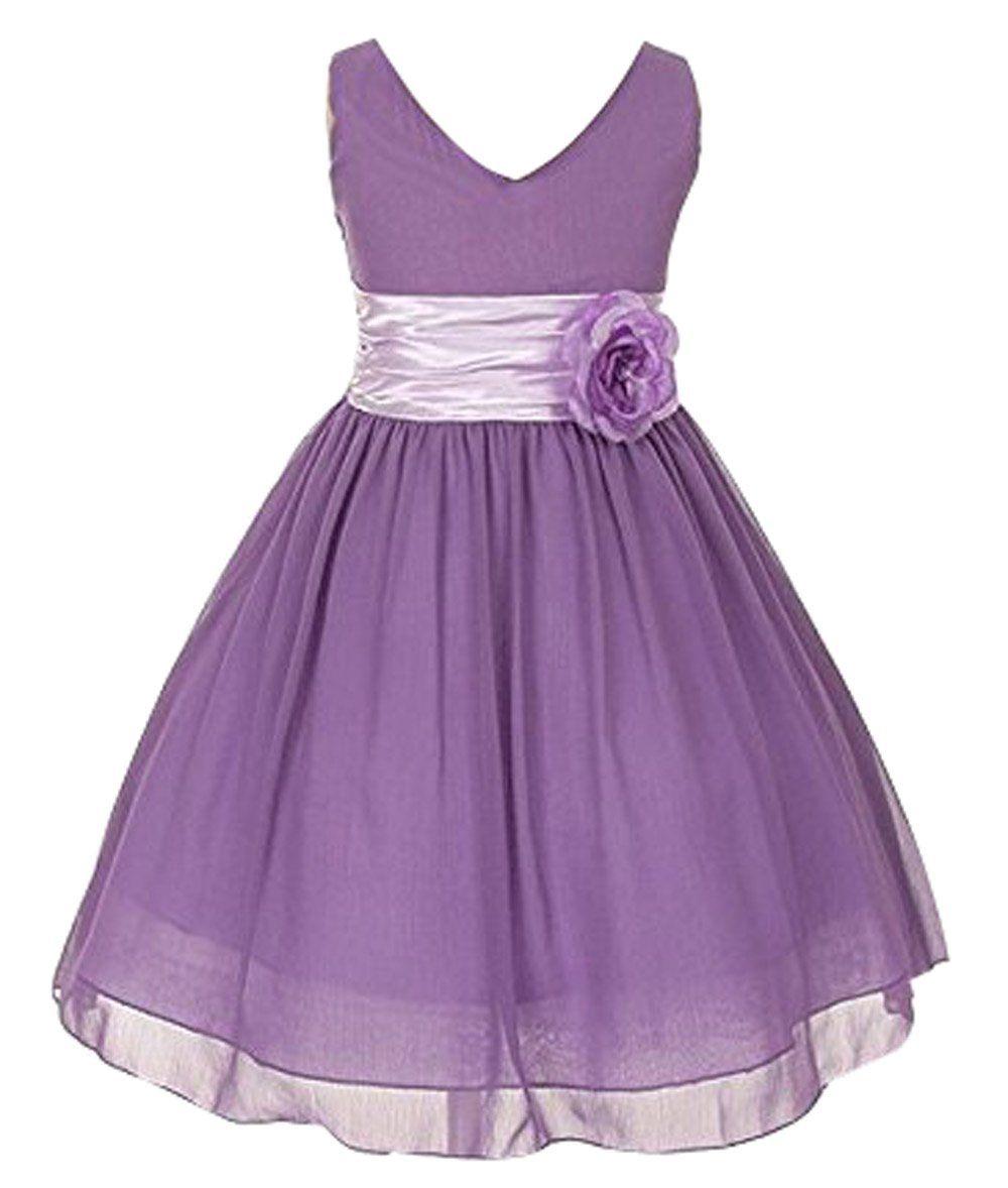 Bot Check Chiffon Flower Girl Dress Lilac Flower Girl Dresses Purple Flower Girl Dress
