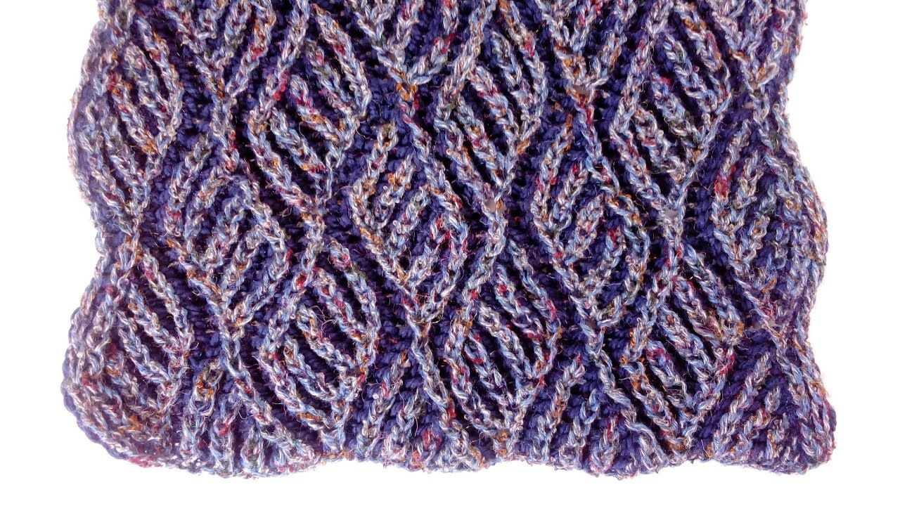 Two-color brioche scarf knitting pattern + free chart | Knit knit ...