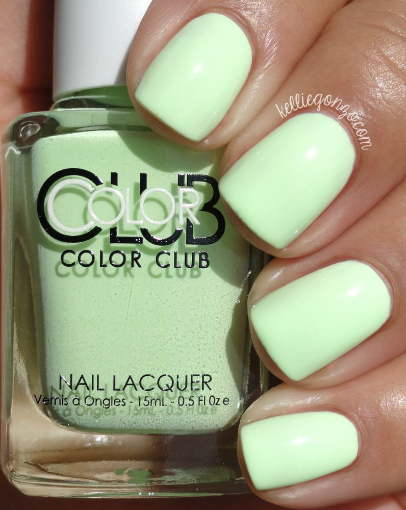 Til the Record Stops, a cool toned bright pale green. | Nail Designs ...