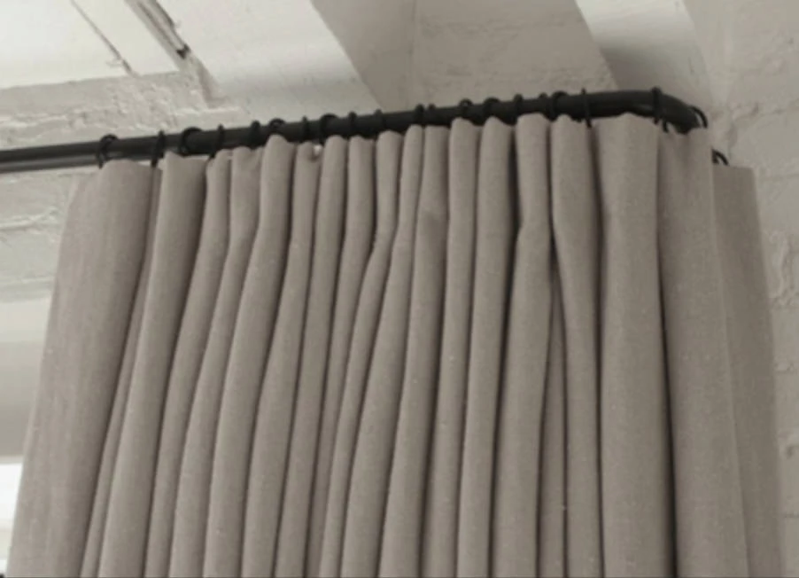 Curved Curtain Rods Google Search Black Curtain Rods Iron