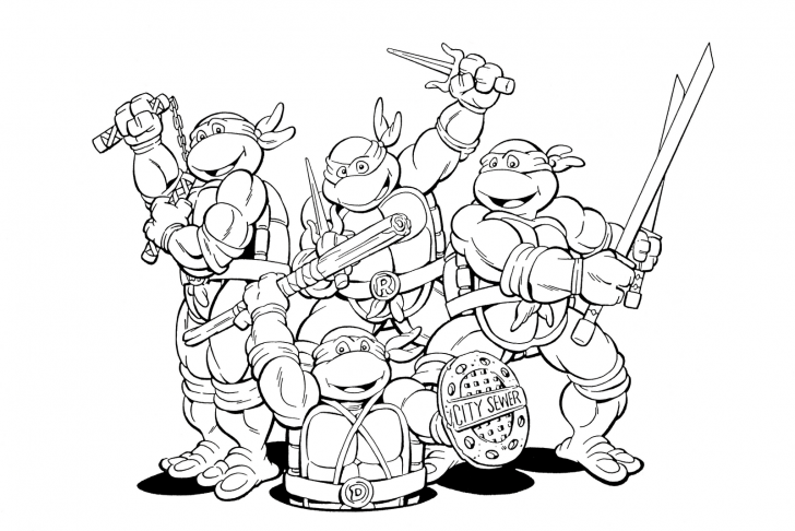 Download Teenage Mutant Ninja Turtles Coloring Pages With ...