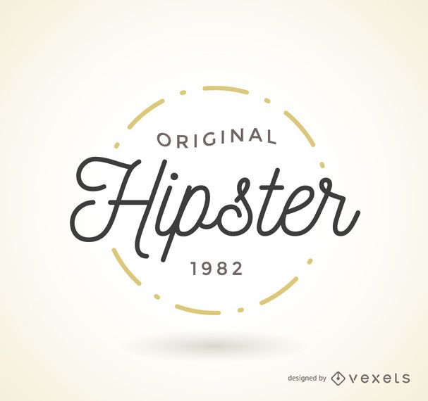 Hipster logo template design featuring a minimalist lettering, and