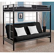 Dhp Twin Futon Bunk Bed Silver Screen At Kmart Com