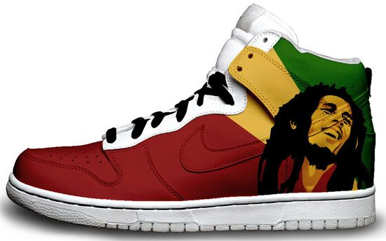 60553405fb Nike- Bob Marley in 2019 | •Kicks • | Bob marley shoes, Sneakers ...