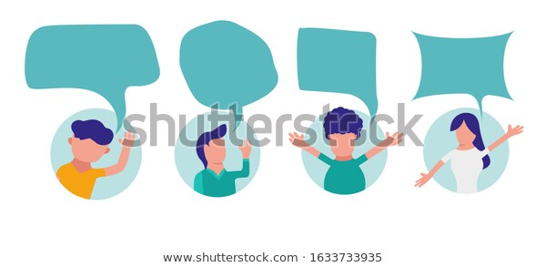 Character Vector Bubble Chat Flat Design Stock Vector Royalty Free 1633733935 In 2020 Flat Design Design Character