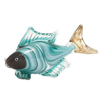 IMAX Croix Glass Fish Statuary