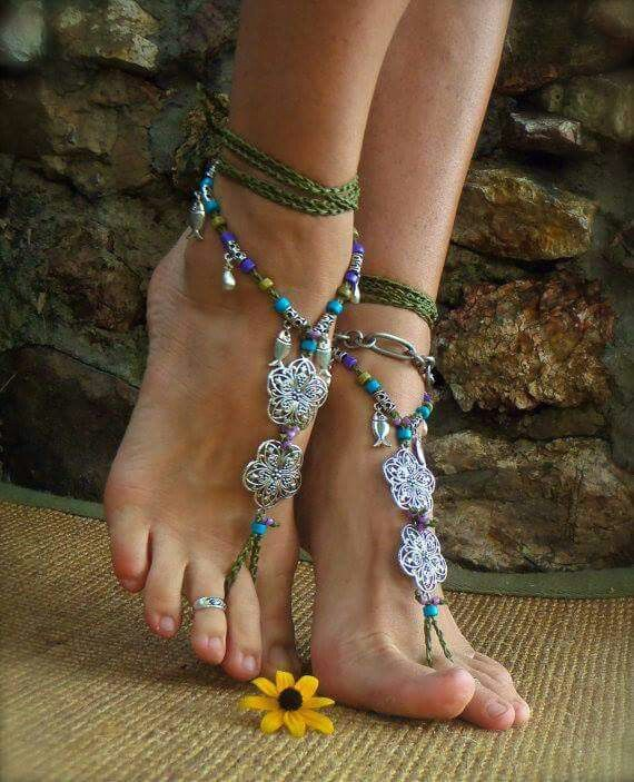 Beaded barefoot sandals!