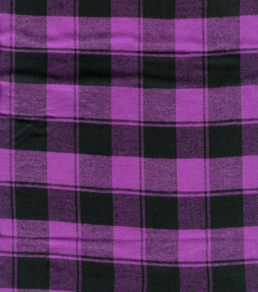 Plaid Shirting-Purple Buffalo Plaid