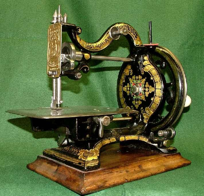 agenoria cica 1870 alte nhmaschinen und zubehr designed first registered in movement patented in agenoria sewing machine by auther isaac maxfield considered one of the most beautiful sewing machines sciox Gallery