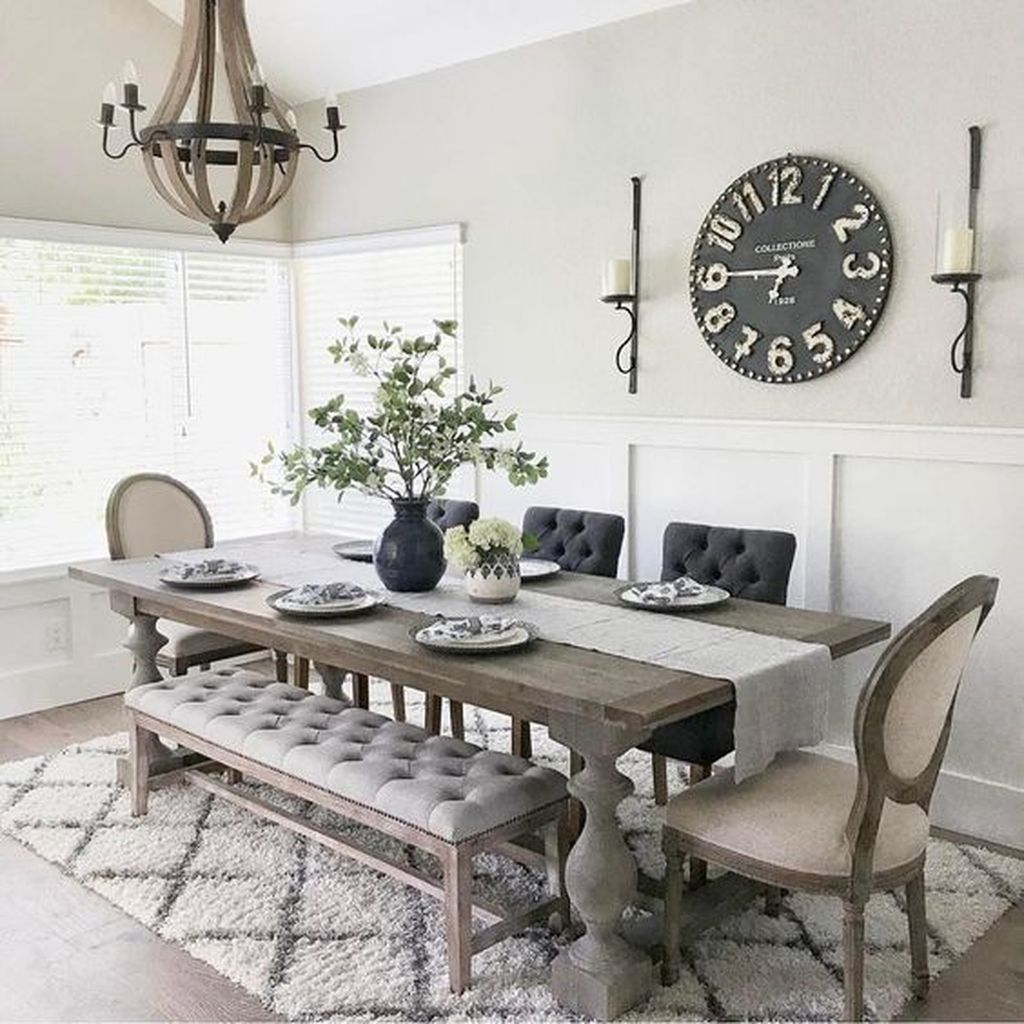 42 Awesome Country Dining Room Table Decor Ideas images