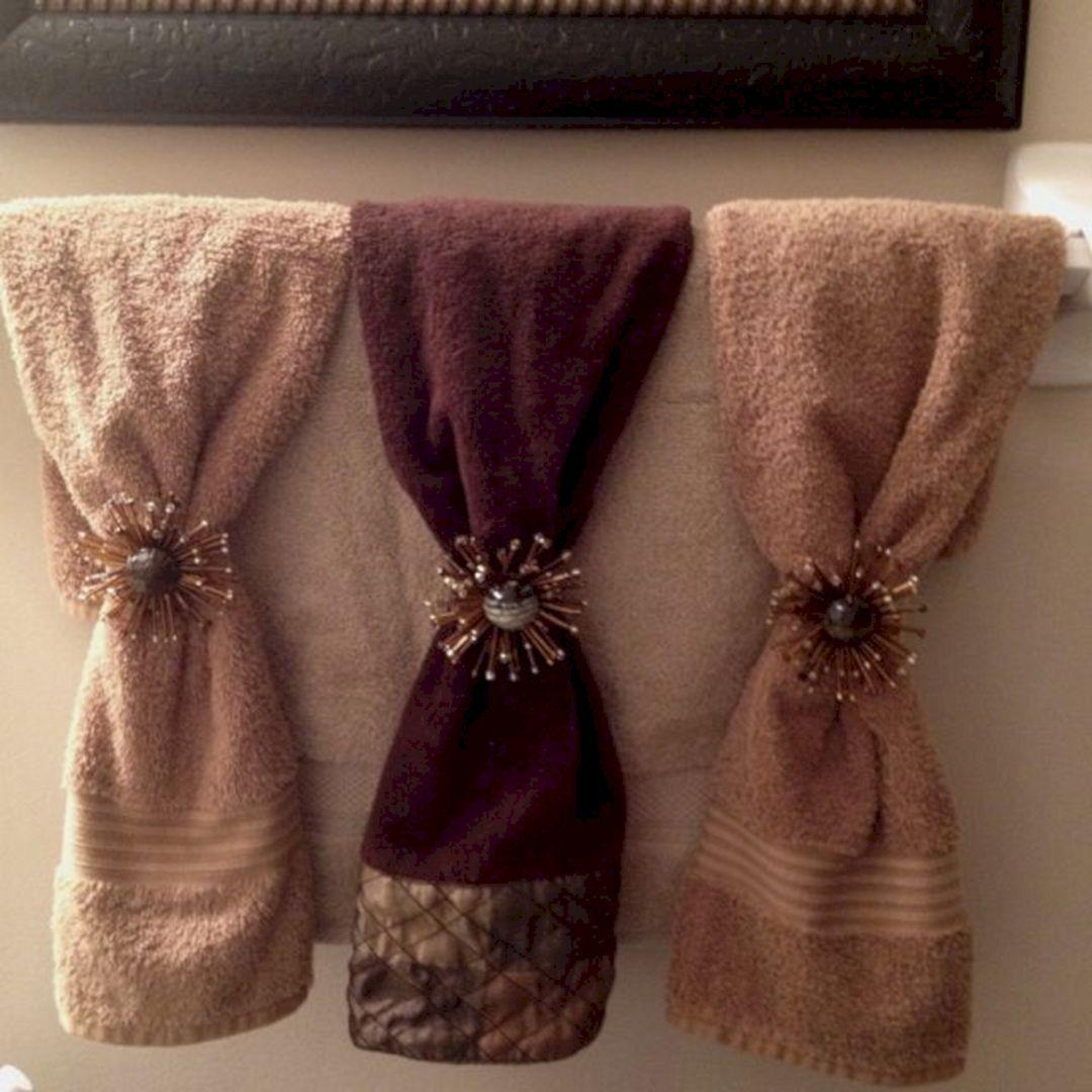 24 Most Popular Bathroom Design And Amazing Decor Ideas Bathroom Towel Decor Decorative Bath Towels Decorative Hand Towels