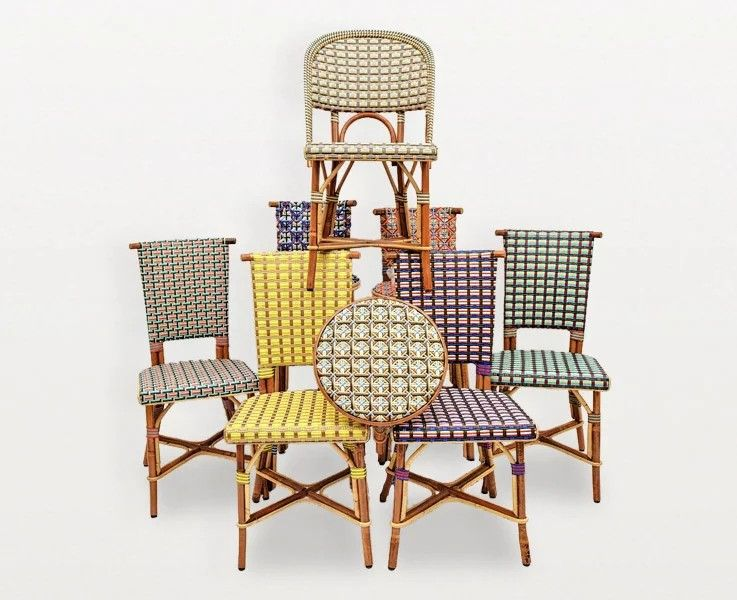Philippe Model Maison Archid Chair Cafe Chairs Wicker Chair