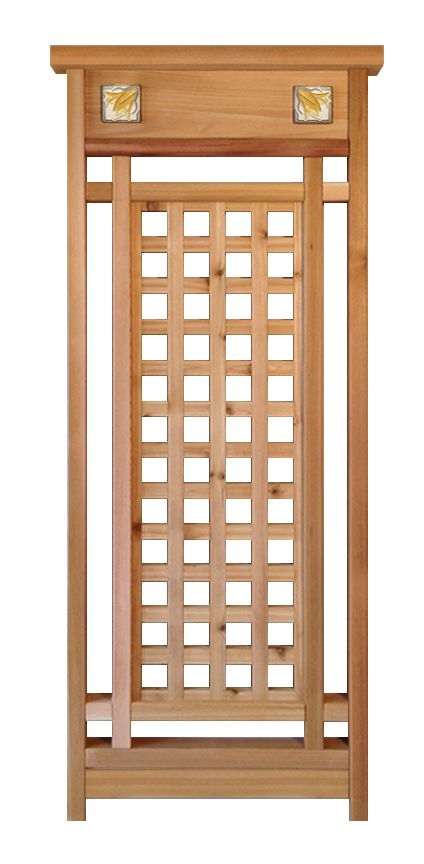 craftsman style cedar garden trellis | garden | pinterest