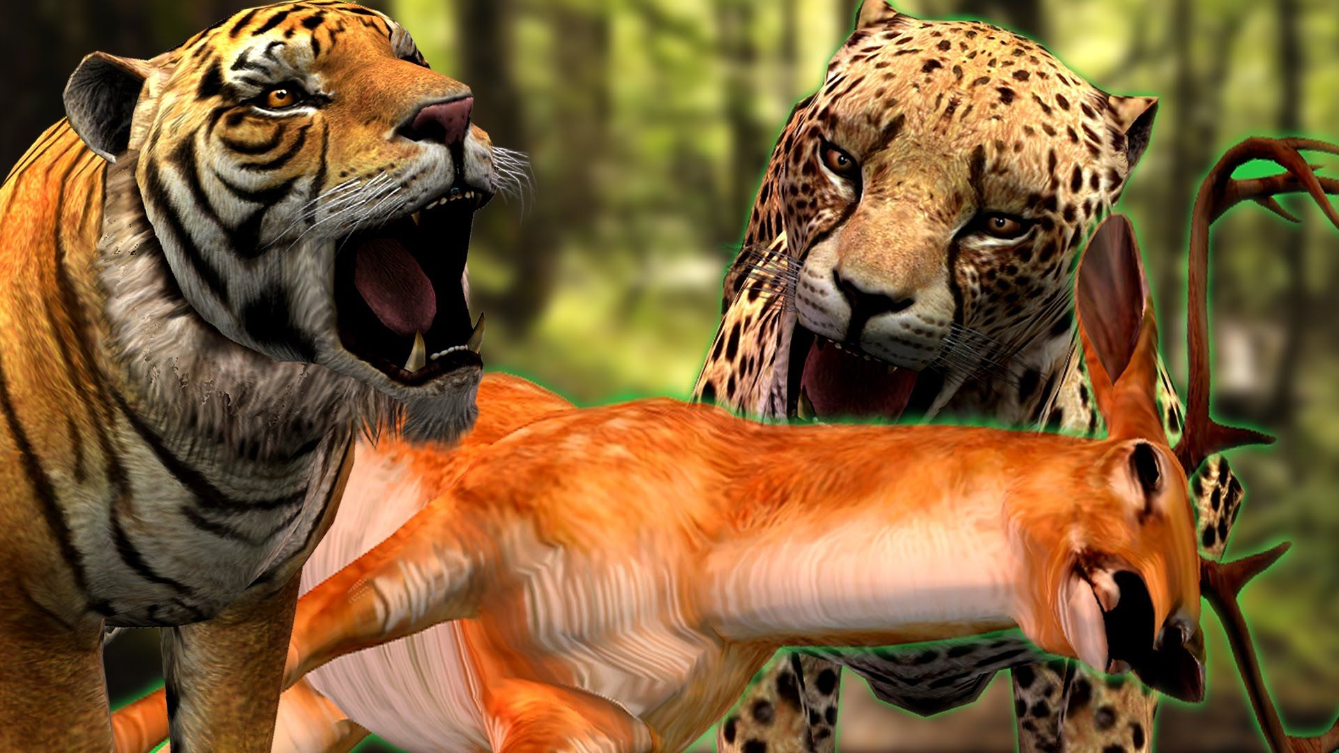 cheetah hunting deer hungry tiger vs cheetah cartoon animal