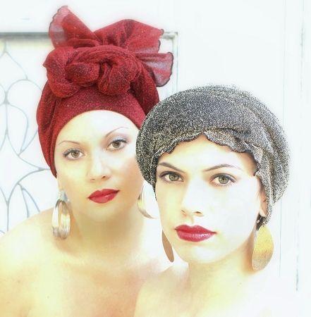many turbans and head wraps