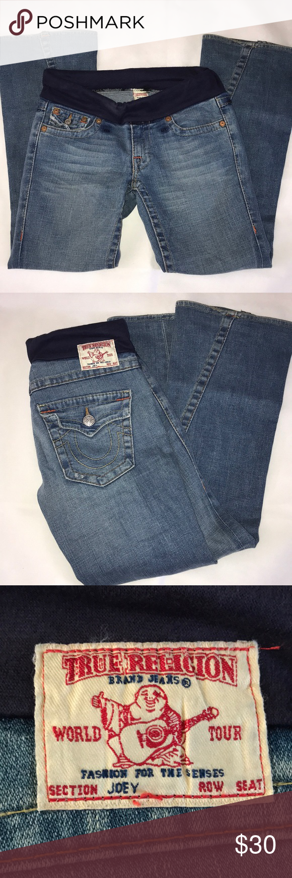 4d57791abf7b6 True religion maternity jeans Sz 28 These are Joey jeans size 28 they have  maternity band