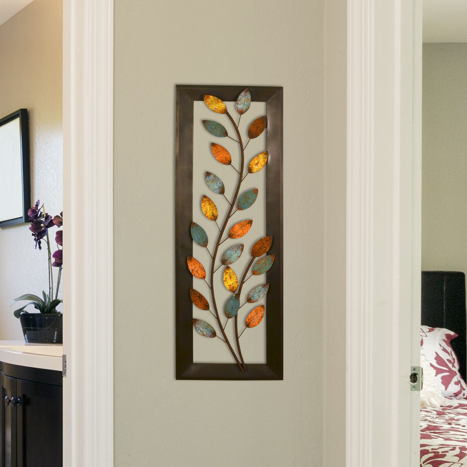 Stratton home decor winding leaves panel wall decor x x