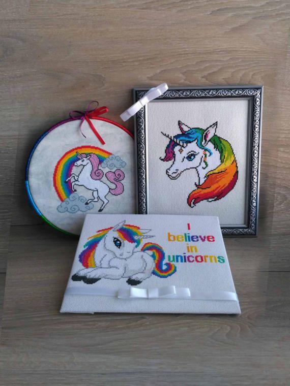 Unicorn cross stitch pattern Unicorn - Modern cross stitch pattern ...