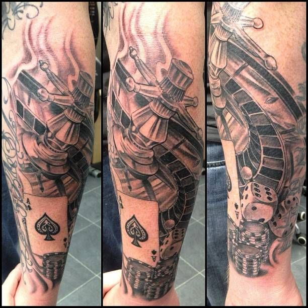 gambling tattoos sleeve