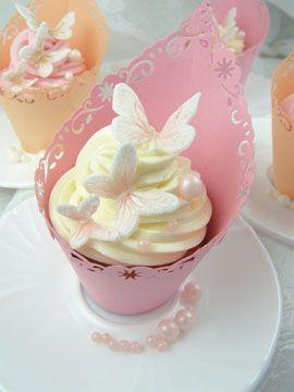 Torten Deko Apricot Und Rosa Tortendeko Leckere Cupcakes Und