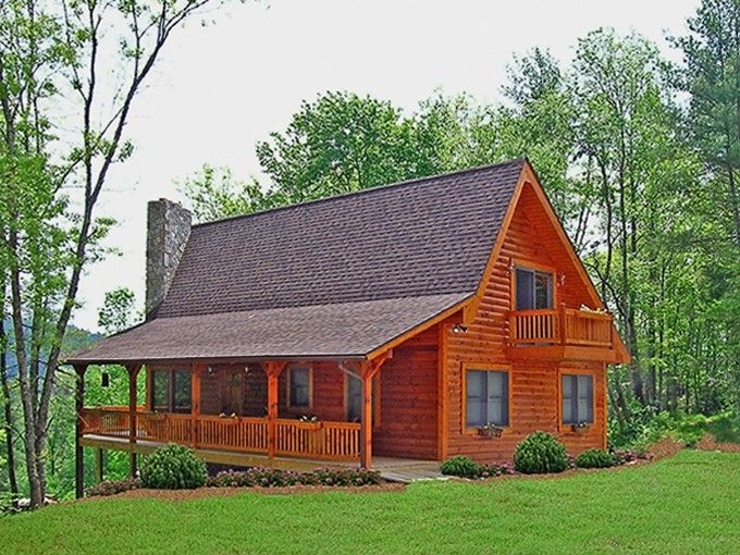 Eplans Log House Plan Rustic Log Style Year Round Retreat 1601 Square Feet And 3 Bedrooms Country Cottage House Plans Cottage House Plans Country House Plans
