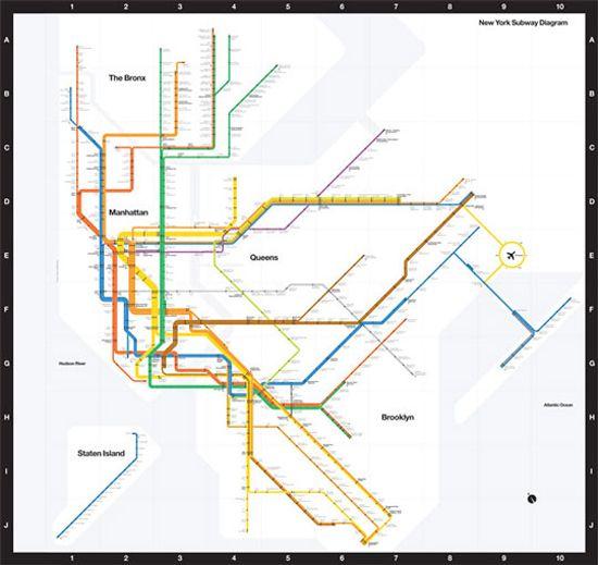 Nyc Subway Map Inspired Design.Massimo Vignelli S Classic Nyc Subway Map 1972 Inspired By London S