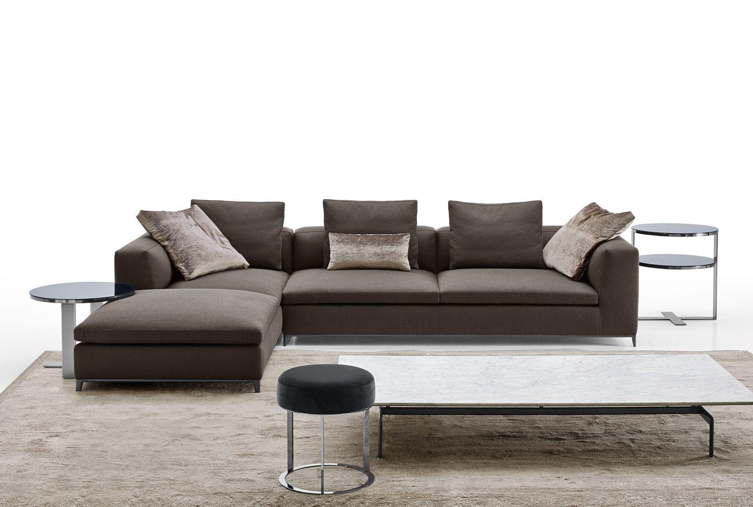 Sofa: MICHEL CLUB - Collection: B&B Italia - Design: Antonio ...
