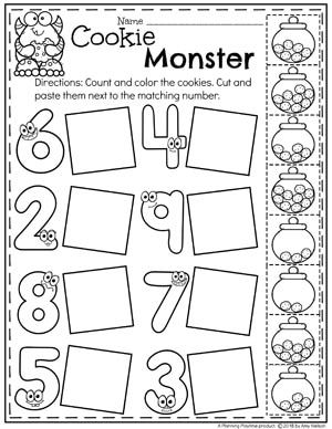 Monster Theme Planning Playtime Preschool Math Worksheets Math Activities Preschool Numbers Preschool