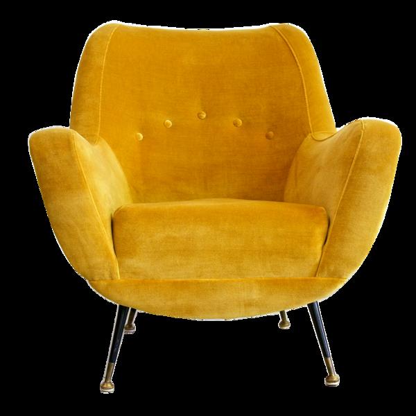 Fauteuil Vintage Couleur Moutarde fauteuil salon