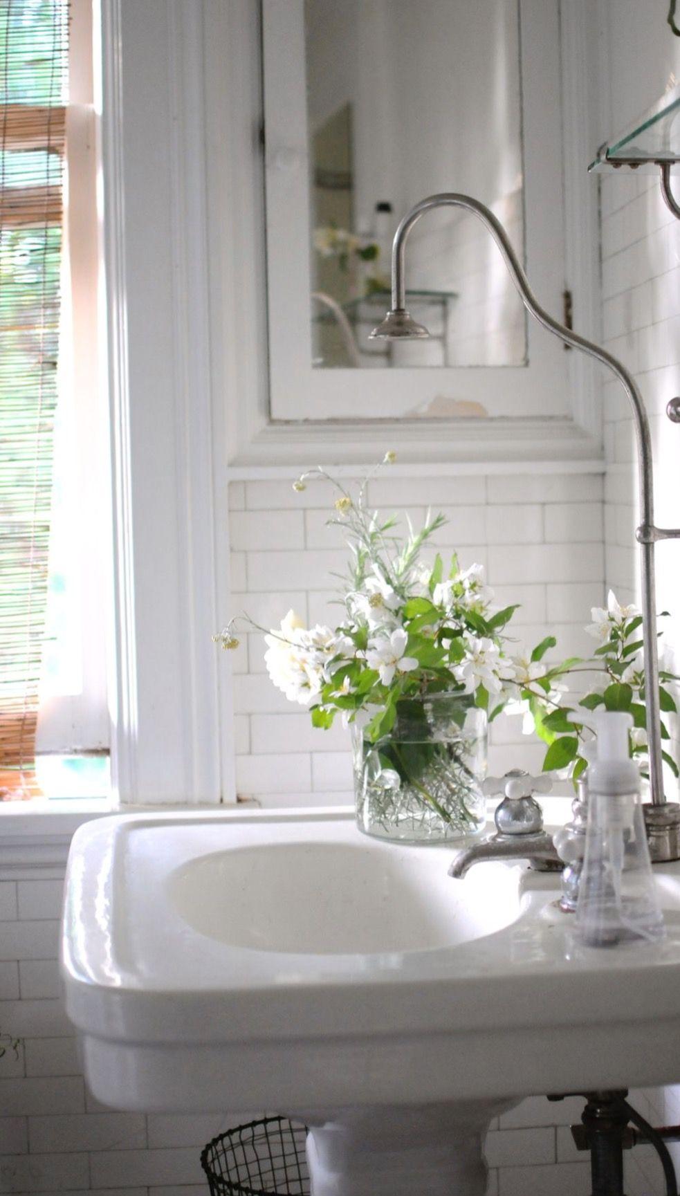 White On White Powder Room | Powder Room ldeas. | Pinterest | Powder ...