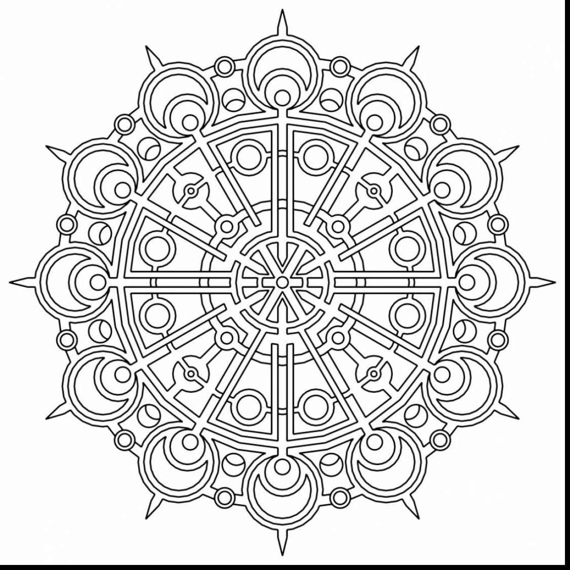 Unbelievable Geometric Mandala Coloring Pages With Geometry Mandala Coloring Pages Pdf