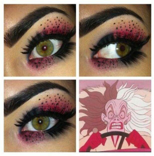 Cruella DeVille inspired eye look