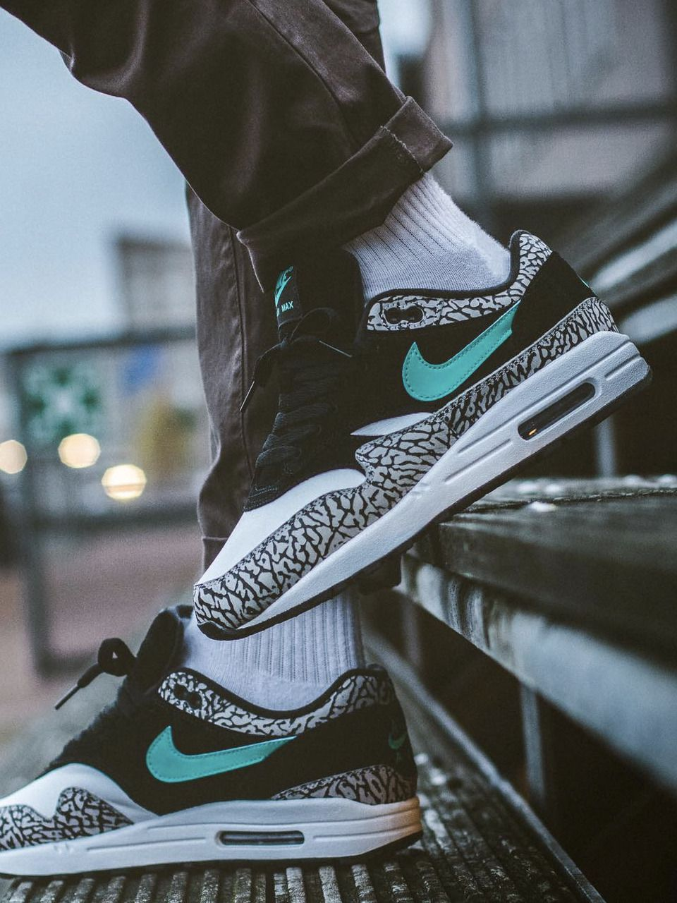d3674e212d5 Atmos x Nike Air Max 1 'Elephant' (by maikelboeve) Shoe trees are no ...