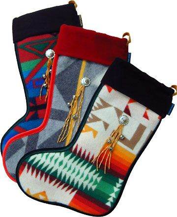 Wooly Christmas Stocking from Pendleton blankets