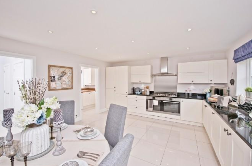 Linden Homes Gives Us A Very Pretty And Fresh Interior Designed Large Kitchen Dining