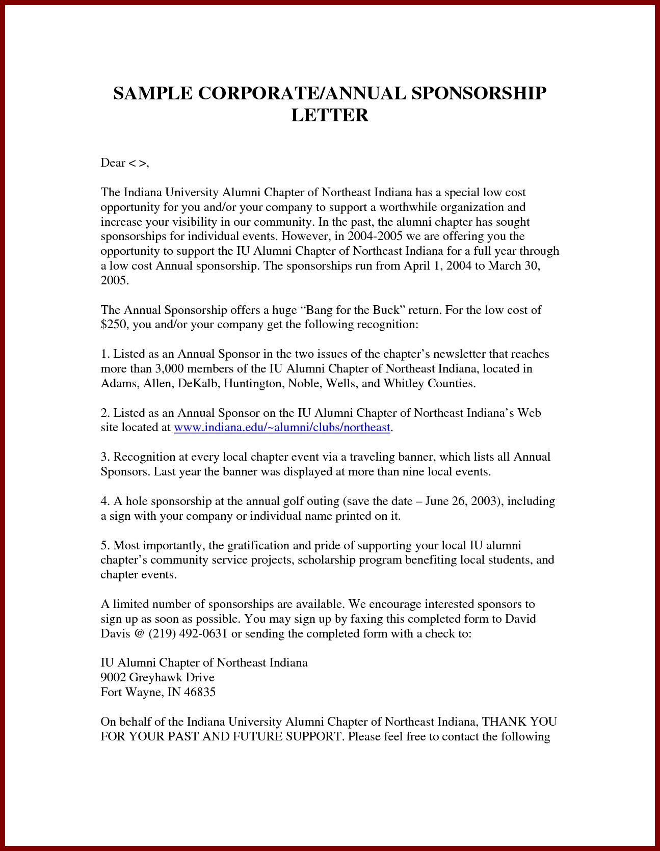 Sponsorship Letter Sample Sendlettersfo Naapletterforsponsorshipg