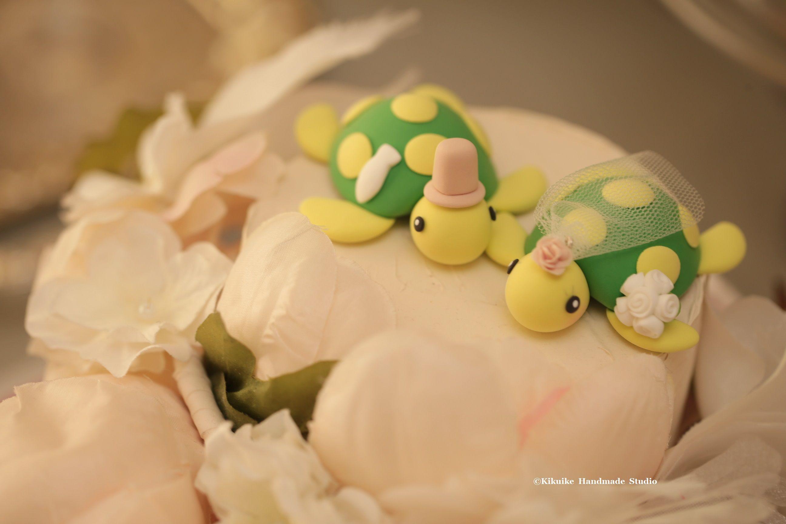 turtles Wedding Cake Topper for 1 pair | Wedding cake, Custom ...