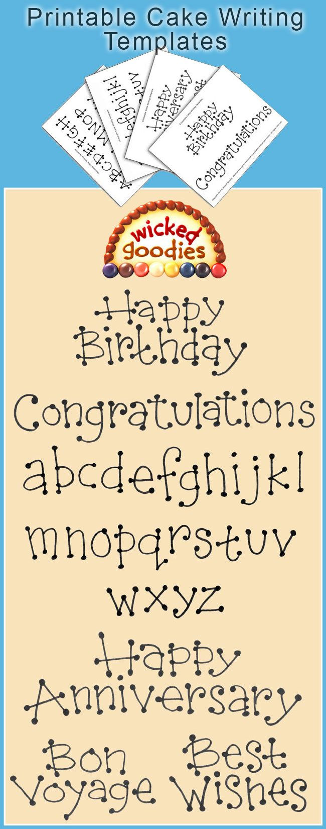 Cake Writing Font Templates in 2018 | Cake Decorating Tutorials ...