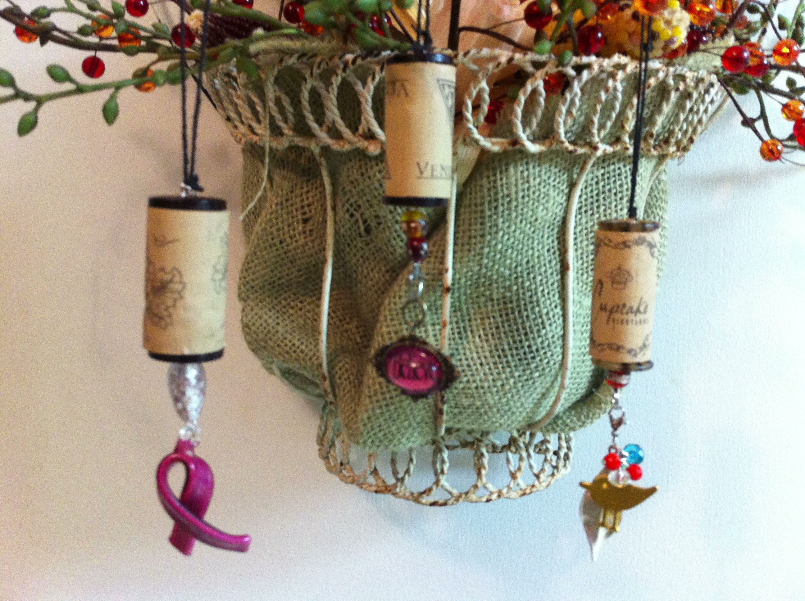 CORKments! Easy to make out of the wine corks you might just have laying around ;)