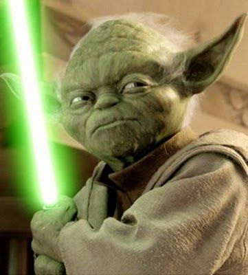 Don't mess with Yoda. (Star Wars)