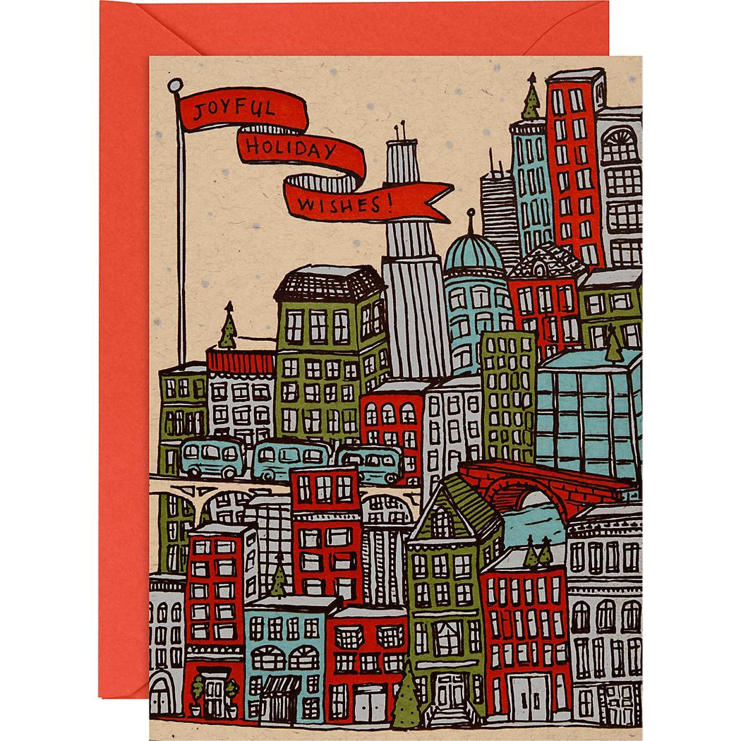Urban Scene A6 Holiday Cards - Paper Source | 1. IHI Holiday Card ...