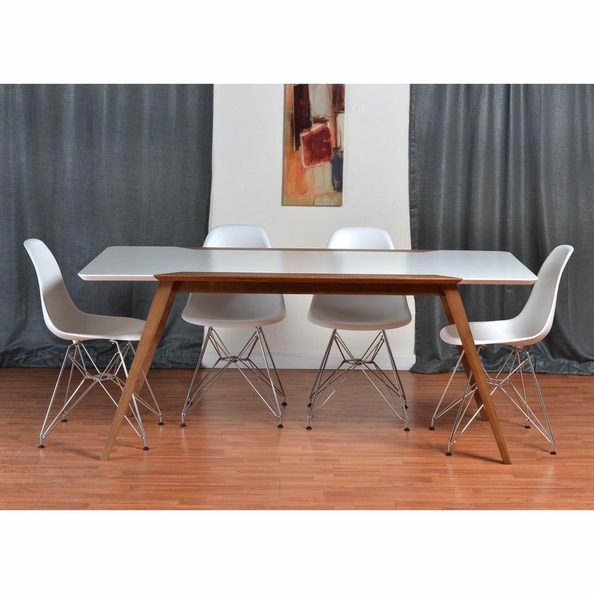 Econatura Fredrik  Eiffel 5Piece Dining Set  Side Chair Mesmerizing Side Chairs Dining Room 2018