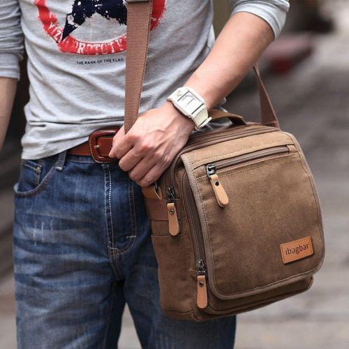 Men-s-Canvas-Shoulder-Bag-Vintage-Everyday-Briefcase-Laptop-Holder-Messenger-NEW