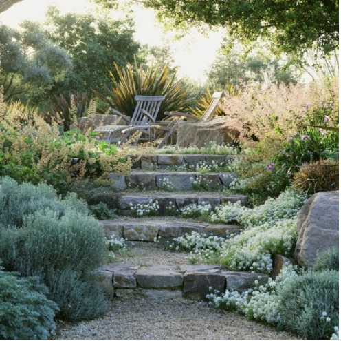 Informal Stone Steps In A Northern California Garden, By Suzman Design  Associates. In Our Area We Will Have To Plant Hardy Plants And Evergreens.