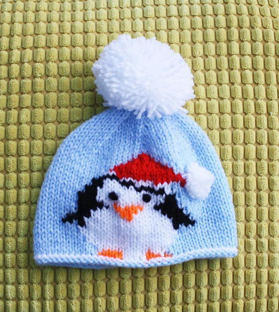 Christmas Penguin Hats | Double knitting, Bobble hats and Knitting wool