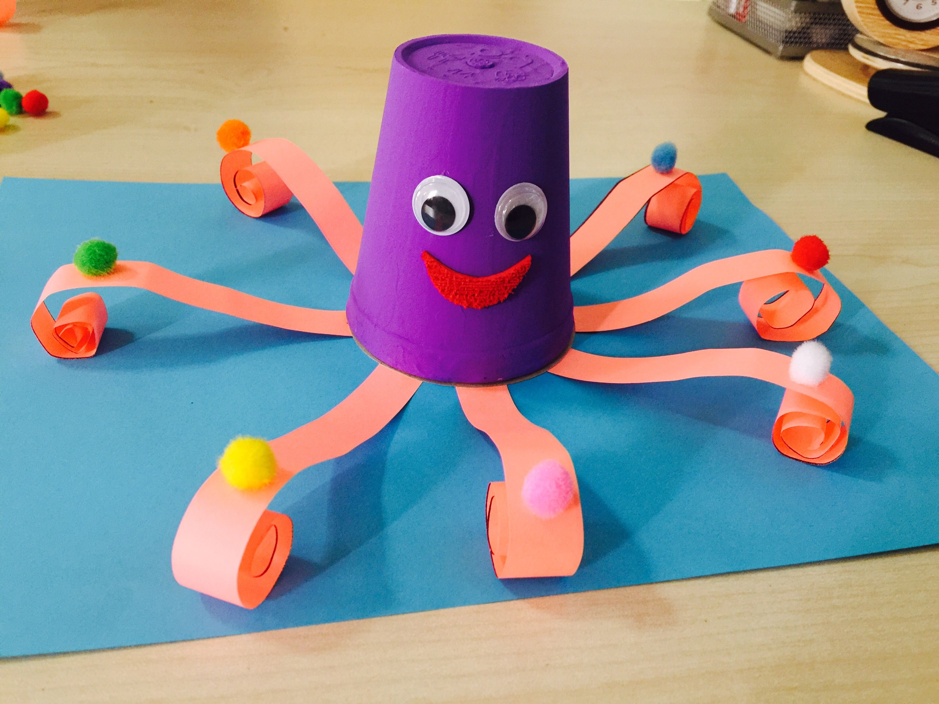 Toddler Crafts Exercises Ahtapot