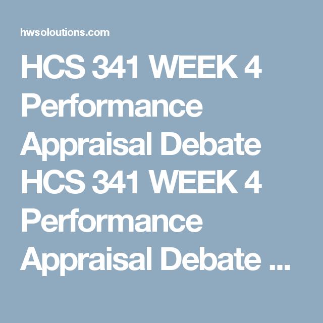 Hcs  Week  Performance Appraisal Debate Hcs  Week