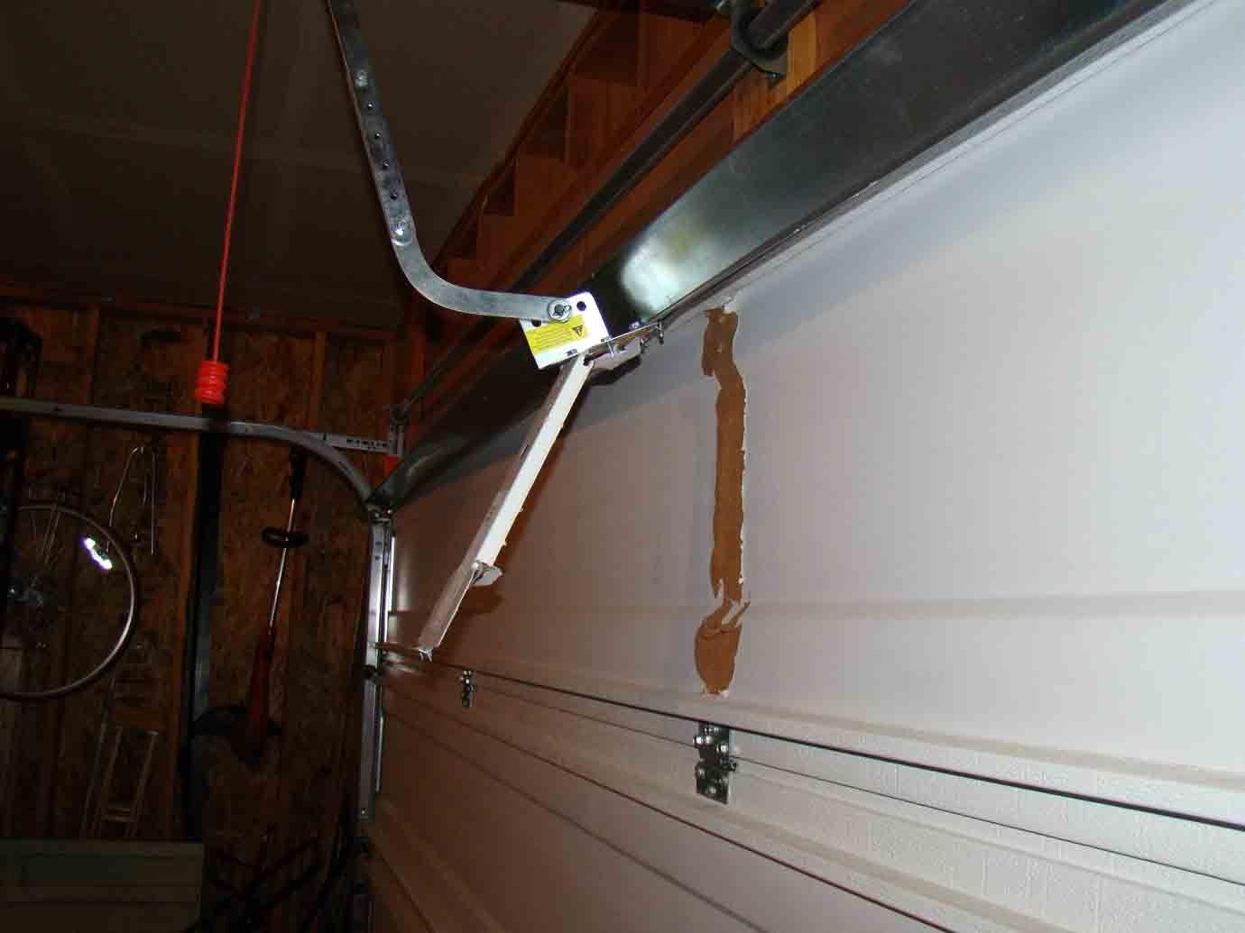 Garage Door Mounting Bracket Broken With Regard To Aspiration Http